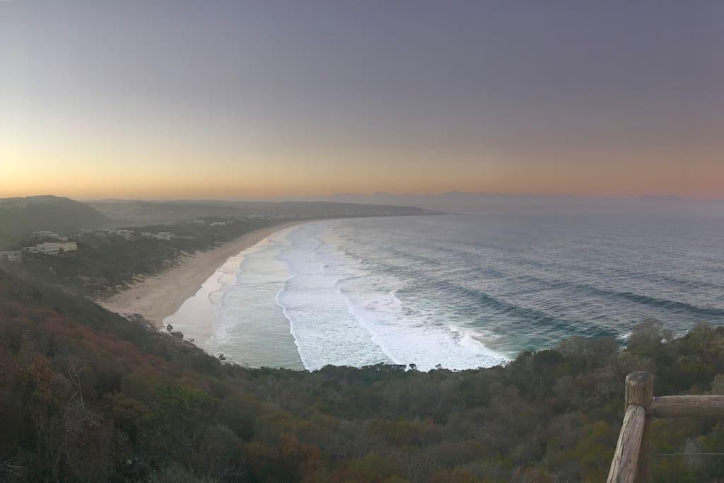 Sundowners from nearby Robberg Peninsula