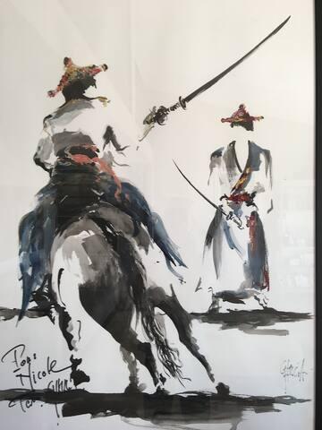 tableau offert par un artiste local