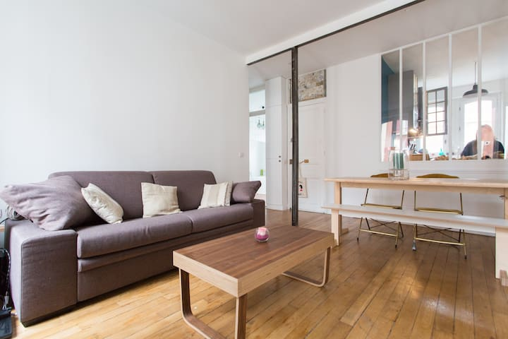 Appartement spacieux et design au pied du métro - Сент-Уан - Квартира