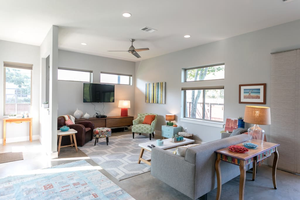 Colorful and bright living spaces
