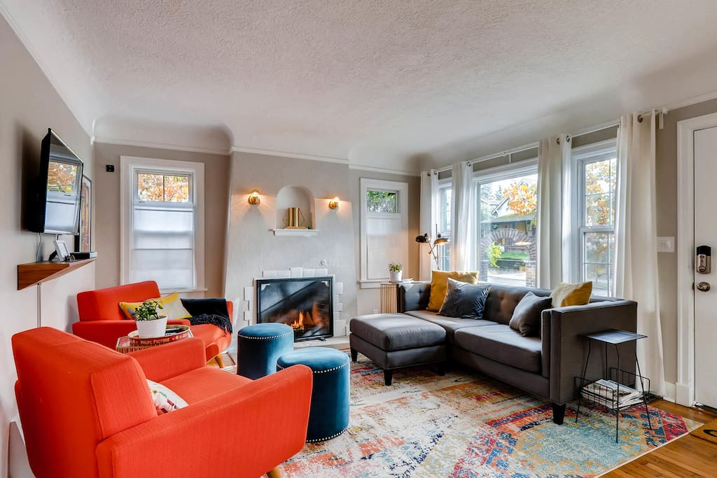 Living room is an inviting central hub