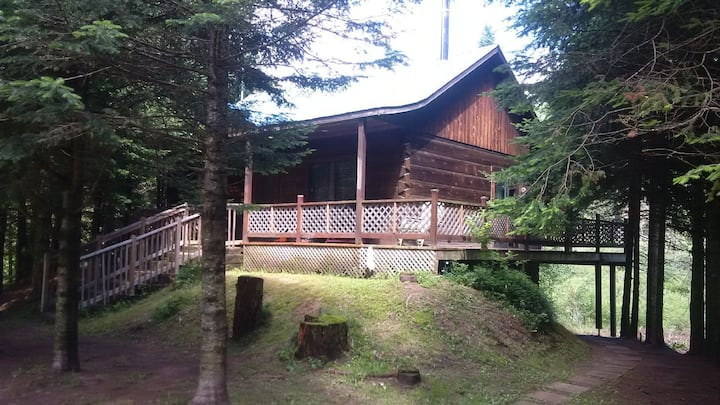 Labelle Chalet cozy log cabin, HS wifi, netflix