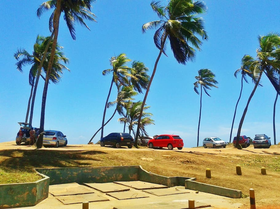 Praia em frente à casa!