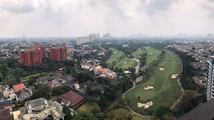 Apartment Golf View Cozy South Jakarta 2 BA + 2 BR