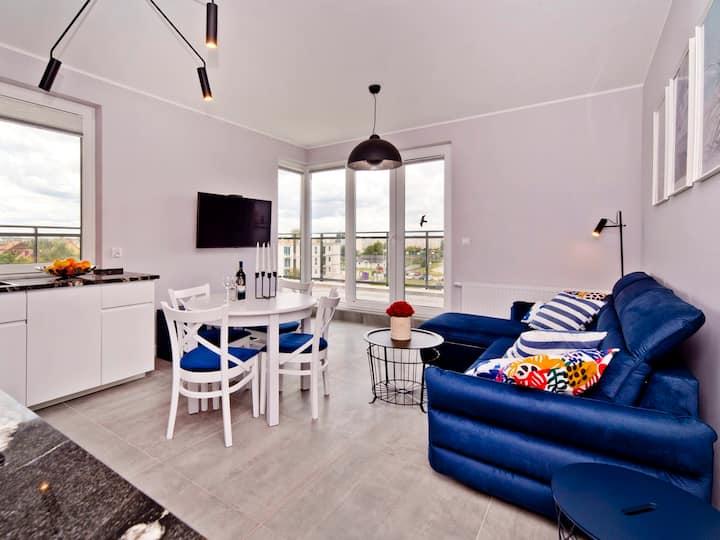 Loft with a spacious terrace A25