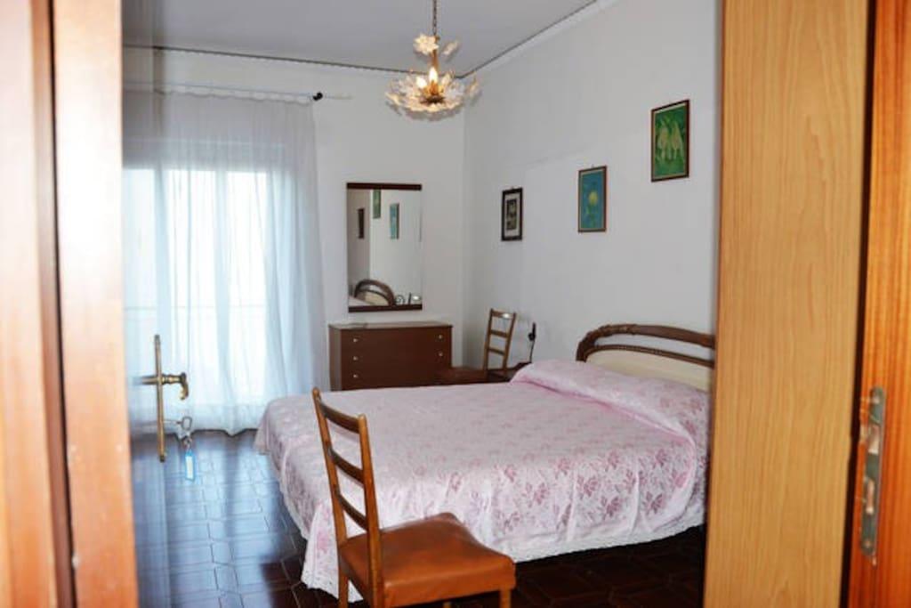 La camera da letto blu