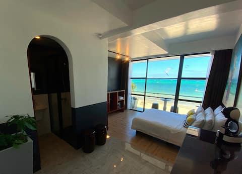 Double room w/ balcony, Ocean view, Bulabog Beach