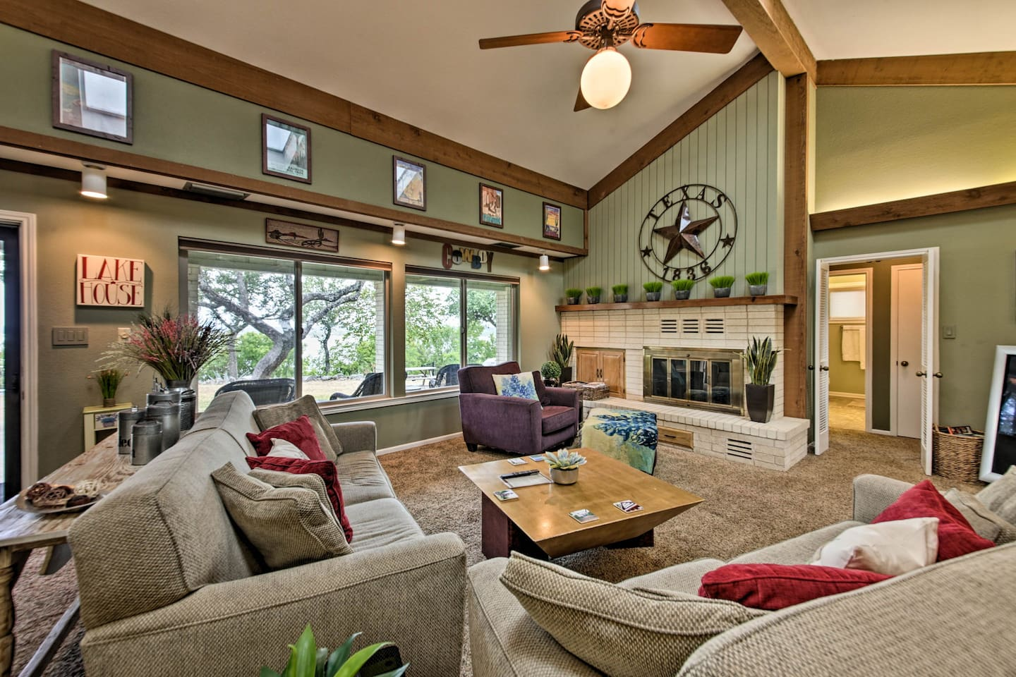 Escape to the lake and enjoy a vacation at this 3-bed, 2-bath vacation rental!