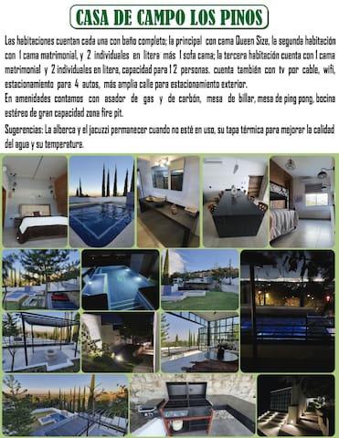 Hermosa casa de descanso Alberca climatizada 24hrs