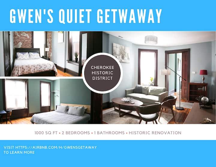 Gwen's Quiet Getaway in the Heart of South City