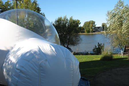 GIANT BUBBLE TENT & SPA under the stars !
