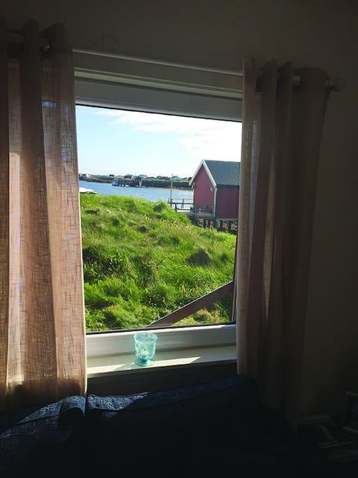 Utsikt fra et av stuevinduene.
