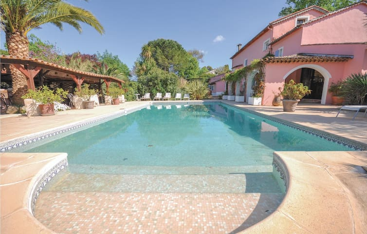 Awesome home in Plascassier with WiFi and 8 Bedrooms