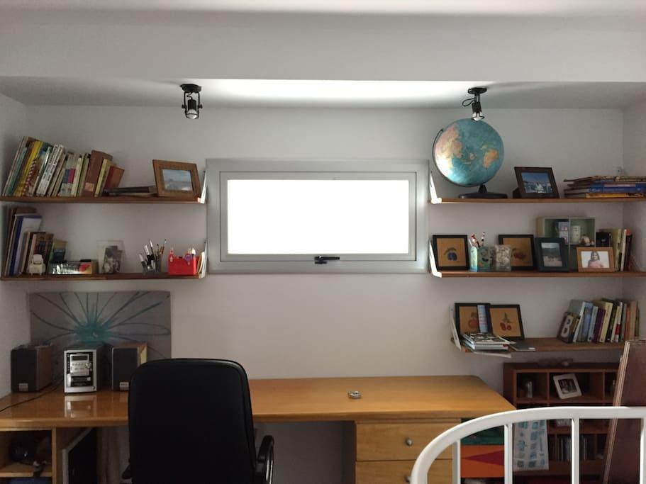 Desk in common space