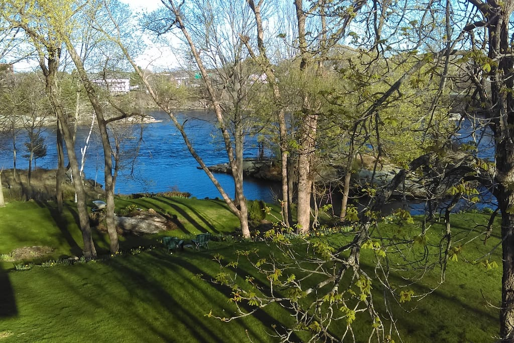 Deck view of Androscoggin River