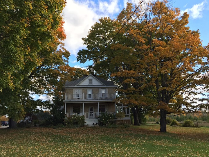 Woodwalk Retreat in 1890's home with 10 acres