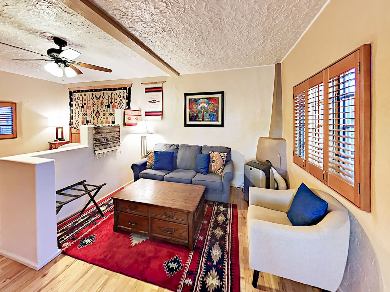 Welcome to Santa Fe! This adobe studio is professionally managed by TurnKey Vacation Rentals.