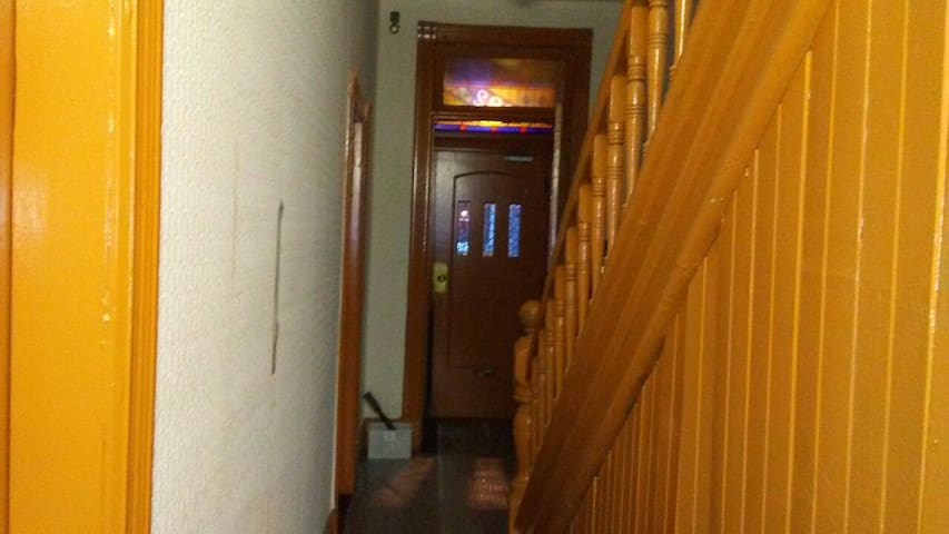 Entrance to upstairs room