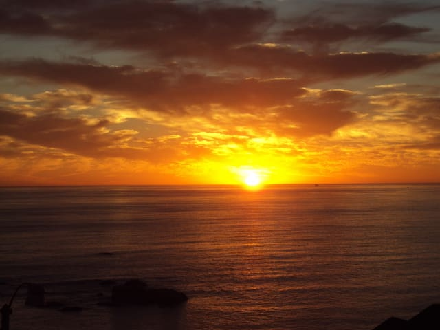 Sunset in Clifton near Camps bay's beach front