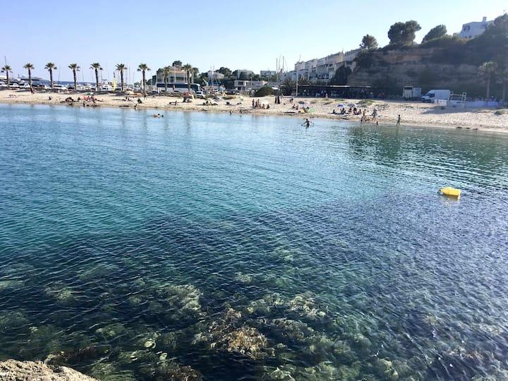¡¡Casita con terraza jardin barbacoa. A 150m del mar. PortAventura a 20mn!!