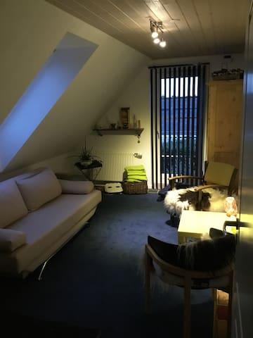 Separat værelse, fælles stue m TV og badeværelse