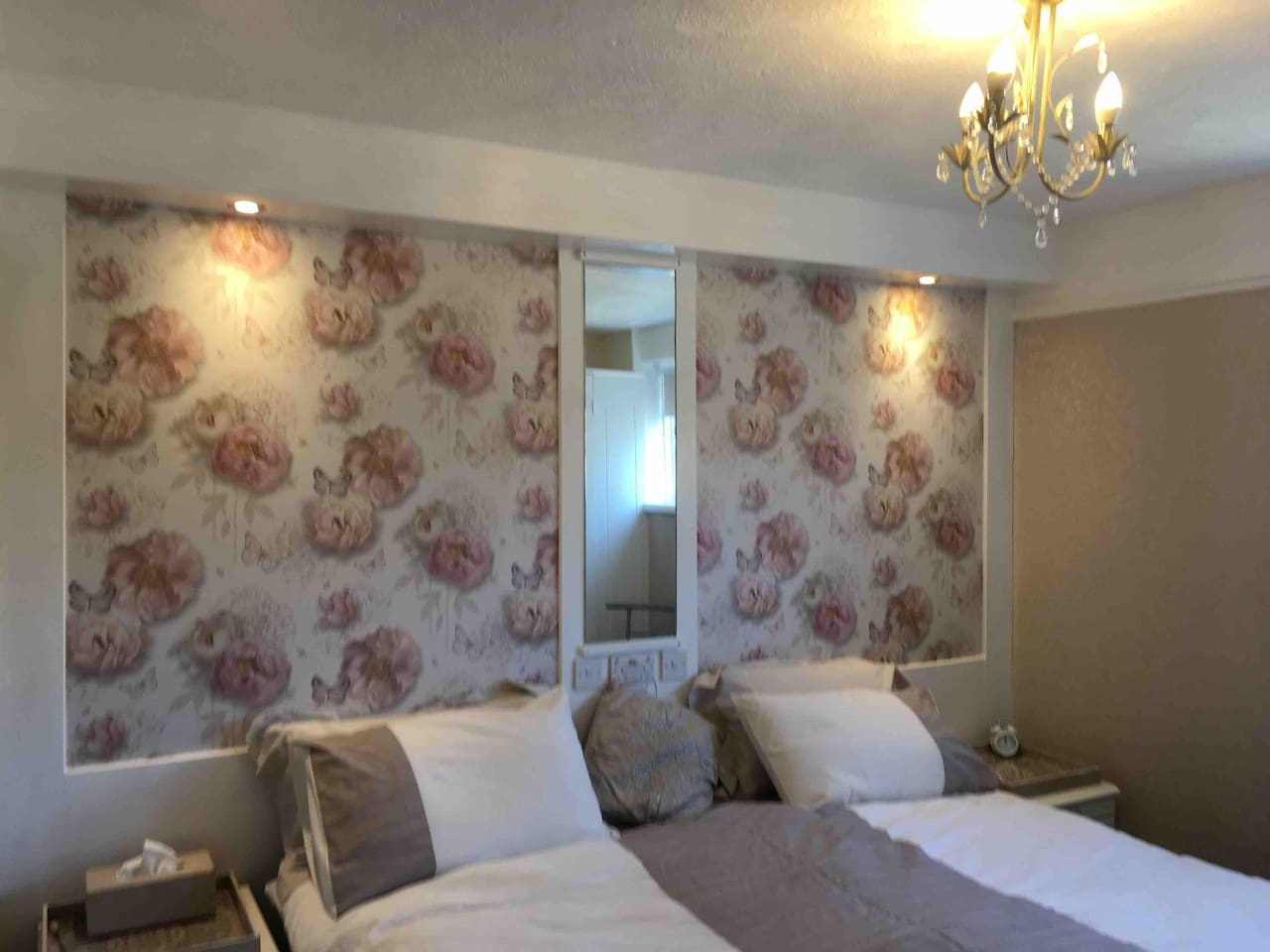 This is our first floor superking bed or twin beds room with private bathroom fridge, tv with dvd, tea & coffee making facilities