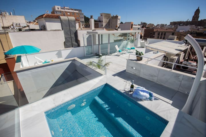 Stunning penthouse with private roof-top pool - Málaga