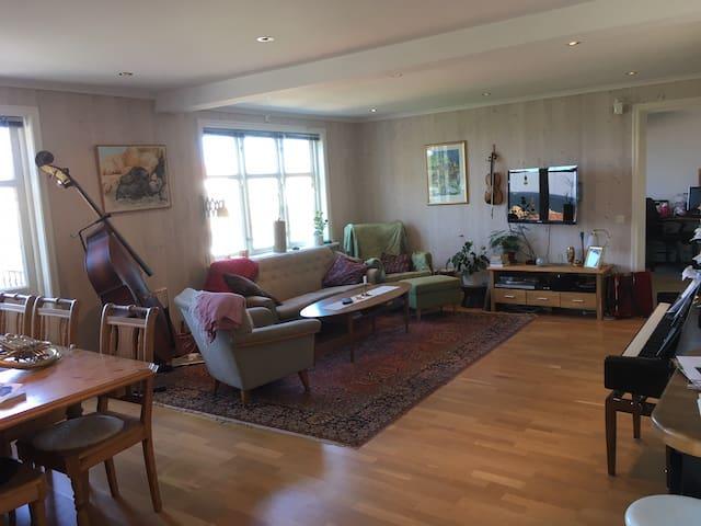 Rymlig Lägenhet, Stor balkong, havsutsikt & piano