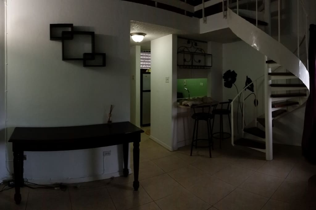 Living / Dining Space with Desk Area