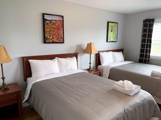 Bedroom 1:  2 Double Beds