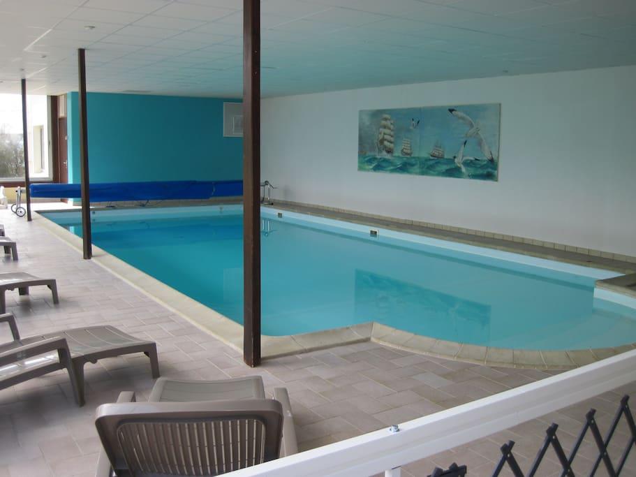 La piscine est chauffée à ~28°c