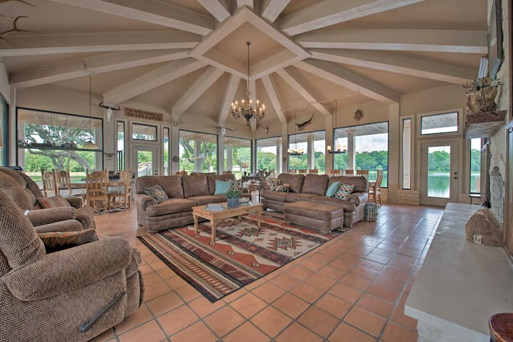 The villa boasts 7 bedrooms, 5 baths, a luxurious main house and guest house.