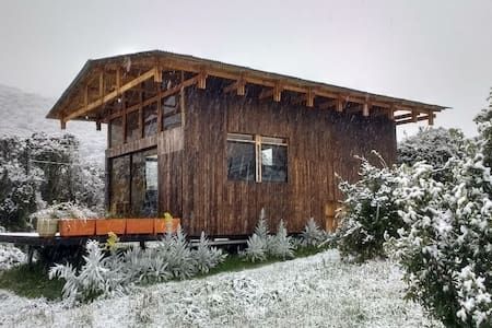 Cozy wooden cabin in Papallacta with hot springs