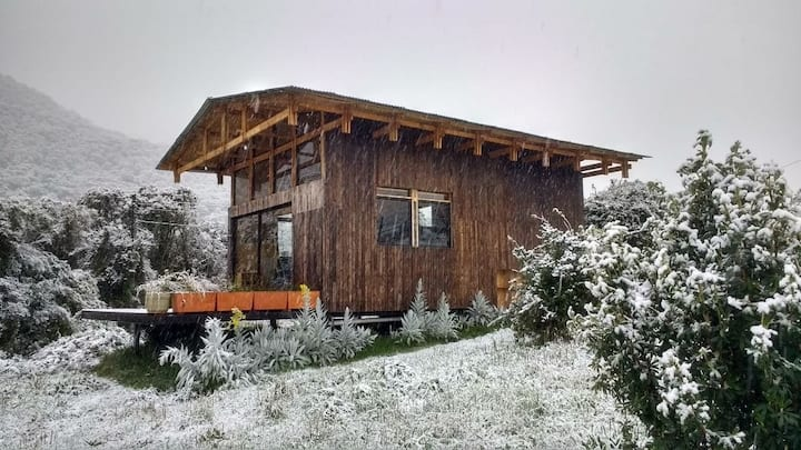 Cozy wooden cabin in Papallacta