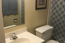 Plenty of space in the bathroom for toiletries
