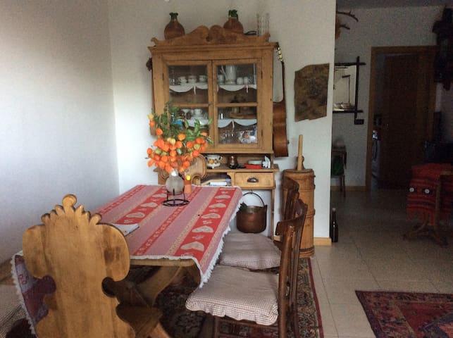 Wohnungsraum mit rustikalen Moebel
