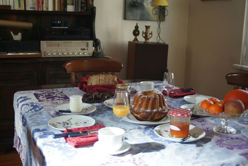 Petit déjeuner traditionnel