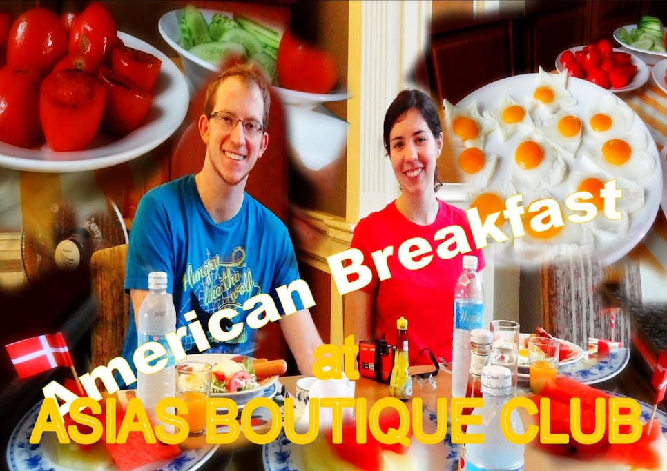 OUR AMERICAN MEMBER COUPLE STAY WITH US DURING  THEIR  VACATION