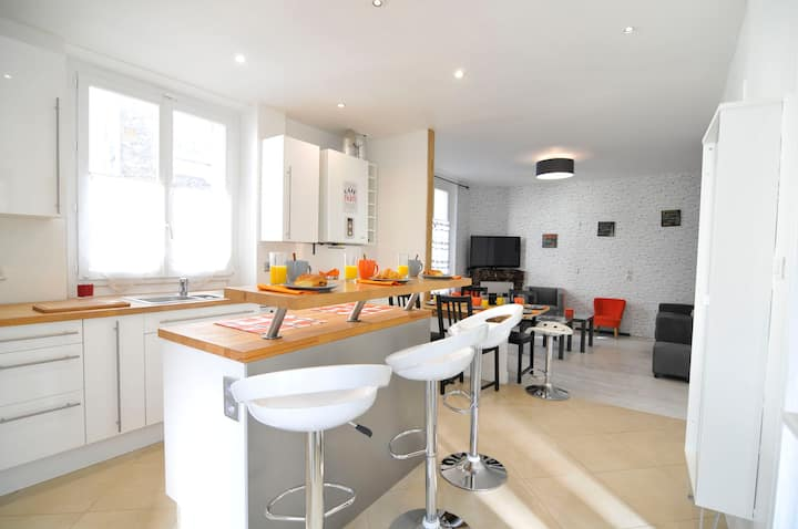 Charming French Cottage 6-9 pers. 20 mn Paris.