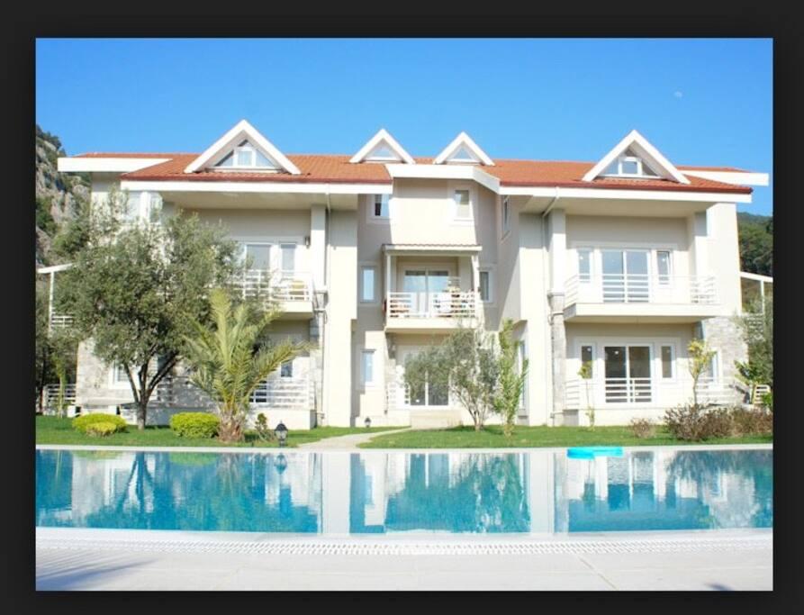 Villa design apartment building