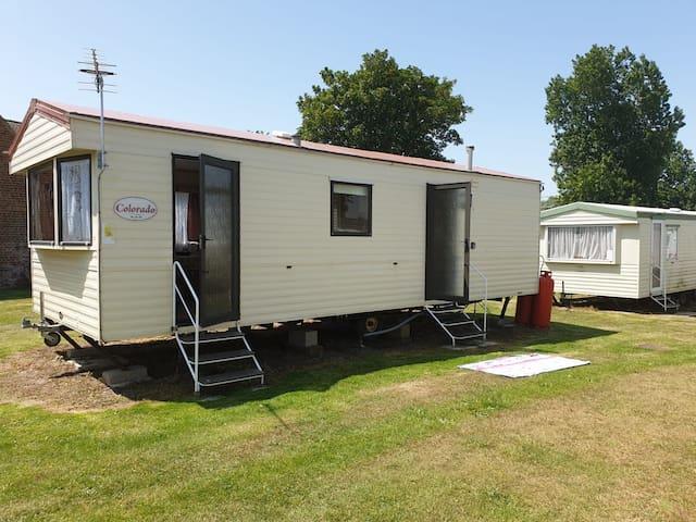 Great cosy caravan.