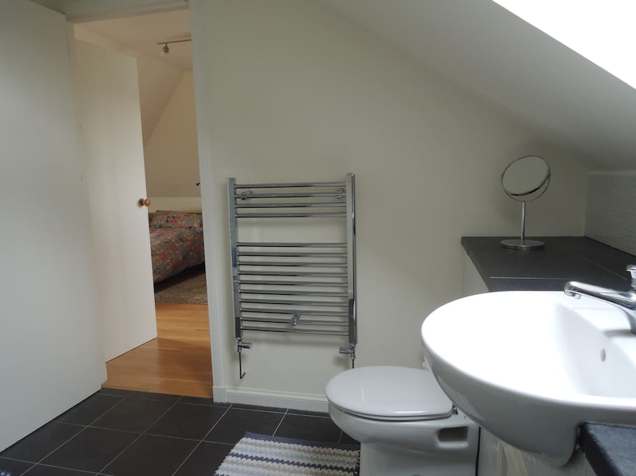 Own bathroom with shower