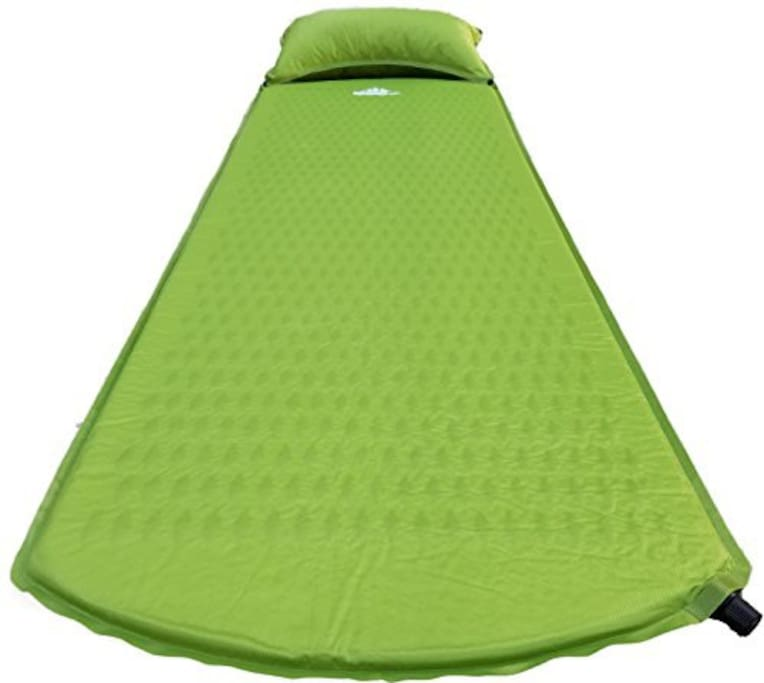 Comfortable self inflating OutdoorsmanLab Sleeping Pads with pillows.
