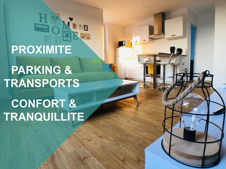 Appartement 1-4 pers. Proche centre  avec parking