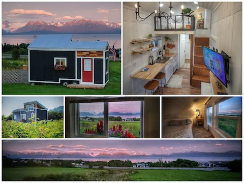 Midnight Sun Tiny Home On 28 Acres 180° Bay View