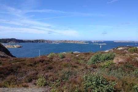 Unik havsutsikt och solnedgång - Fiskebäckskil - Stuga