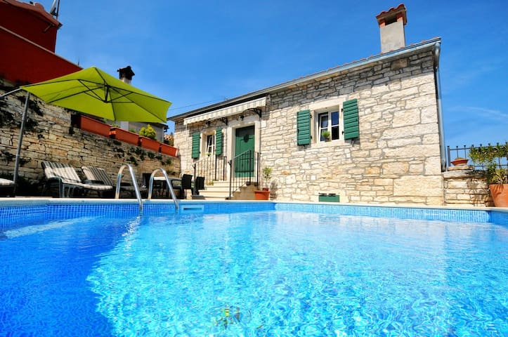 Charming stone villa with pool near Porec - Tinjan - Casa de campo