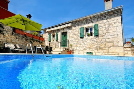 Charming stone villa with pool near Porec - Tinjan