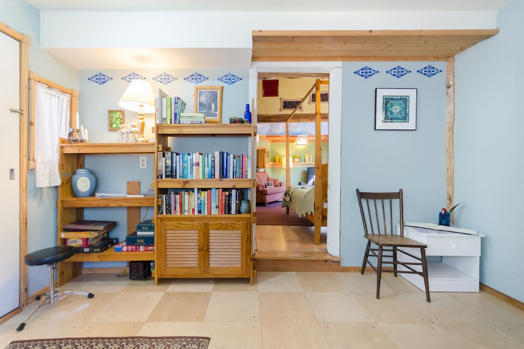 The breakfast room is also stocked with books, games and puzzles for rainy days.