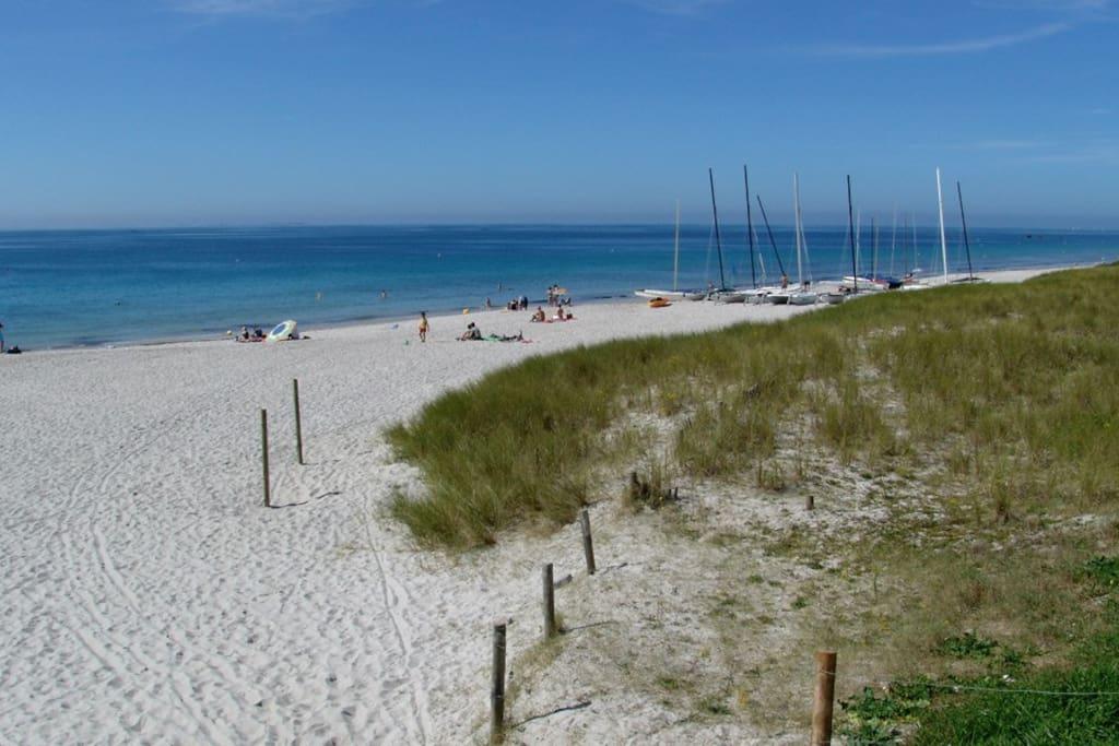 Plage de Kerambigorn (grande plage de sable fin)